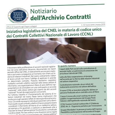 NEWSLETTER OF THE NATIONAL ARCHIVE OF COLLECTIVE JOB AGREEMENTS